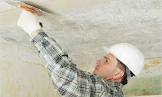 Руководство по шпатлевке потолка