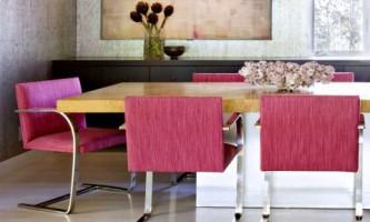 Современный интерьер с женственными акцентами: яркий интерьер дома в брентвуде