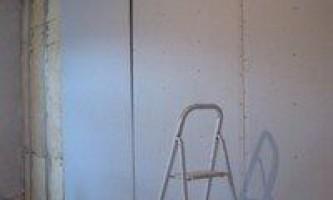 Способы крепления гипсокартона к стене