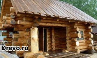 Срубы домов из рубленного бревна