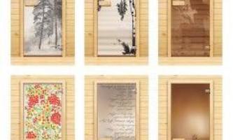 Стеклянные банные двери: особенности и виды современных конструкций