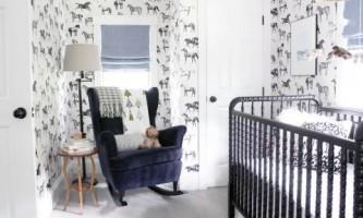 Стильный дизайн маленькой комнаты для новорожденного