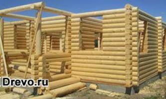 Строительство дома из бревна для постоянного проживания