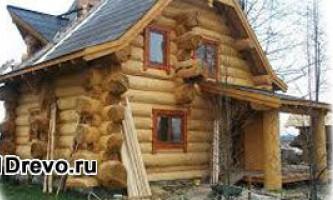 Строительство дома из дикого сруба - яркость и оригинальность