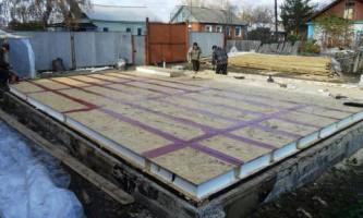 Строительство домов из сип. Требования к фундаменту