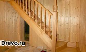 Строительство лестницы в деревянном доме своими руками