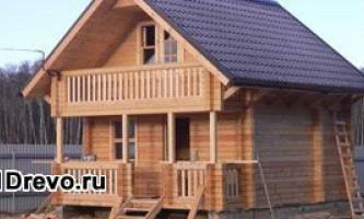 Строительство недорогого брусового дома для круглогодичного проживания