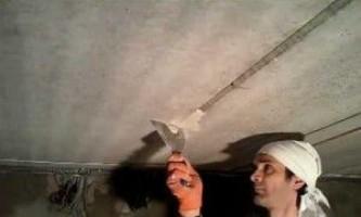 Трещина на потолке — как заделать потолочные швы
