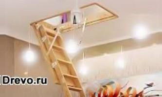 Установка чердачного люка с лестницей в деревянном доме
