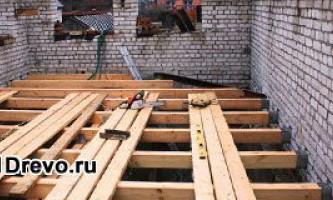Устройство деревянного пола в кирпичном доме