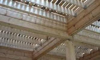 Устройство перекрытия деревянного дома из бруса