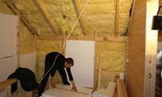 Утепление деревянного дома из бруса изнутри
