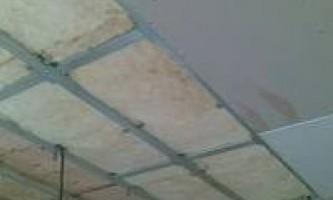 Утепление потолка изнутри помещения