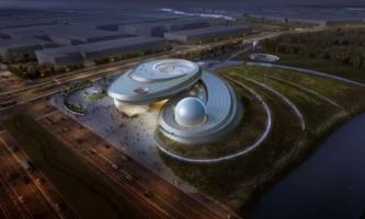 В китае представлен футуристический проект шанхайского планетария