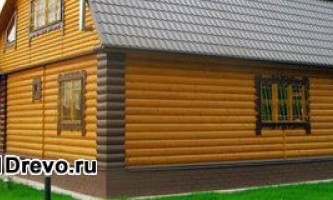 Варианты обделки деревянного дома