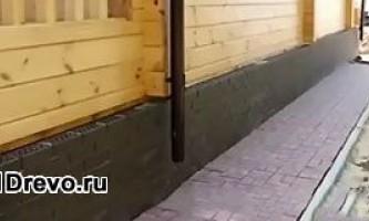 Варианты отделки цоколя деревянного дома современными материалами