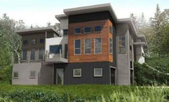 Вертикальный дом среди сосен орегона (фото)