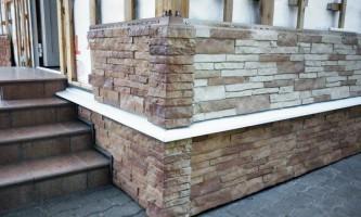 Отделка фундамента каркасного дома цокольными панелями