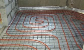 Водяной теплый пол: схема укладки