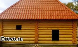 Выполнение работ по устройству сруба от пола до крыши