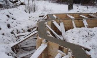 «Зимний» фундамент бани