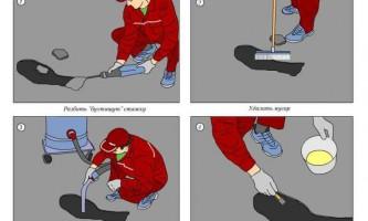 Правила проведения ремонта стяжки